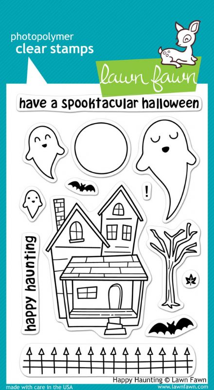 LF0357 ~ HAPPY HAUNTING ~ CLEAR STAMPS BY LAWN FAWN